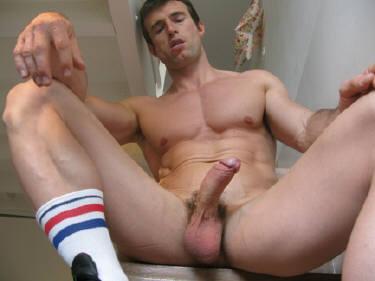 Naked anal bead cum